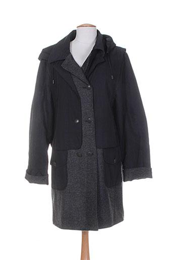 le temps d'havrey manteaux femme de couleur noir