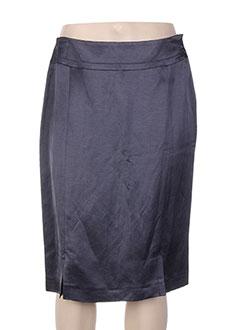 Jupe mi-longue bleu ANTONELLE pour femme