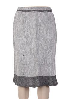 Jupe mi-longue gris ANTONELLE pour femme