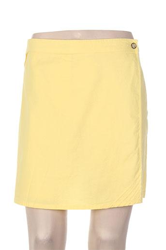 thalassa shorts / bermudas femme de couleur jaune