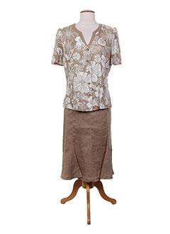 Top/jupe beige ATIAN pour femme