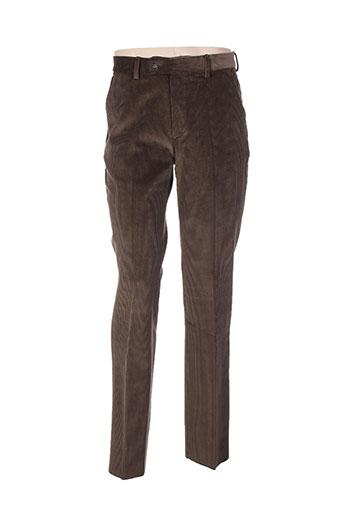 cosserat pantalons homme de couleur marron