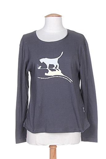 noir/clair t-shirts femme de couleur gris