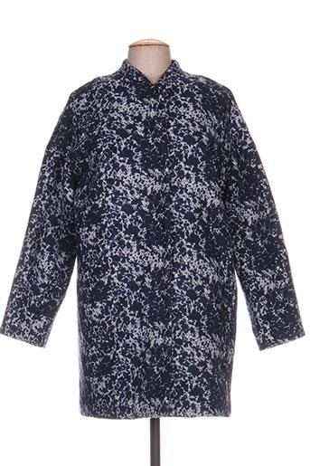 Manteau long bleu LAUREN VIDAL pour femme