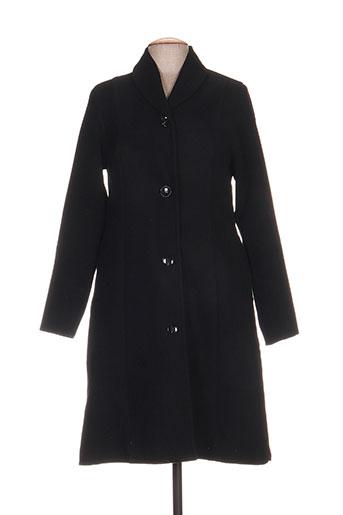 Manteau long noir KOKOMARINA pour femme