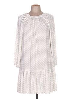 Robe mi-longue blanc BAKKER pour femme