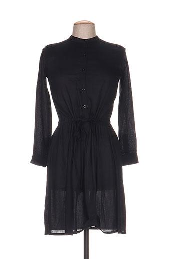 Robe mi-longue noir BAKKER pour femme