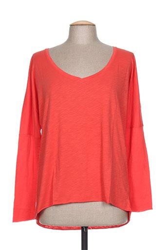 chicama t-shirts femme de couleur rouge