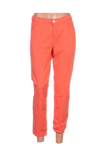 new man pantalons femme de couleur orange