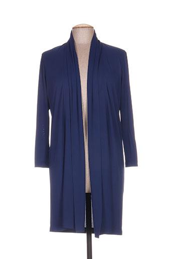 nathalie chaize vestes femme de couleur bleu