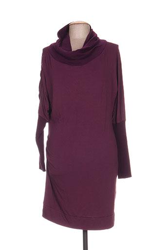 Robe mi-longue violet HYBRIS pour femme