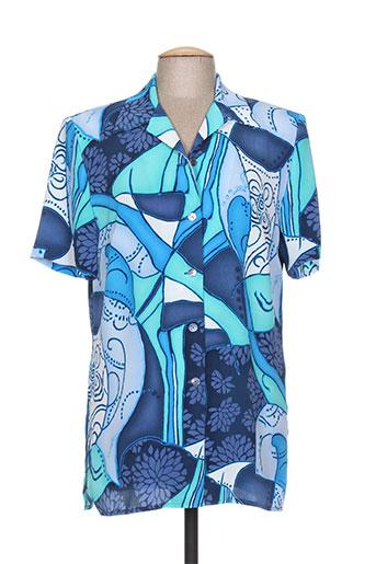 guitard chemises femme de couleur bleu