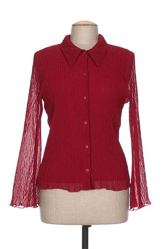 fred sabatier chemises femme de couleur rouge