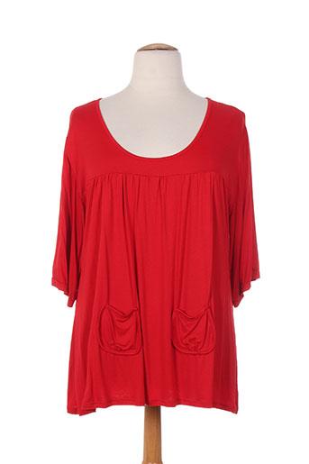 capuccina t-shirts femme de couleur rouge