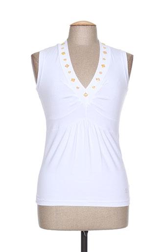 mirea t-shirts femme de couleur blanc