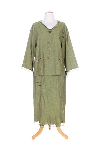 Veste/jupe vert LISA CHESNAY pour femme