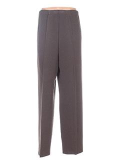 Pantalon casual marron ELLE BELLE pour femme