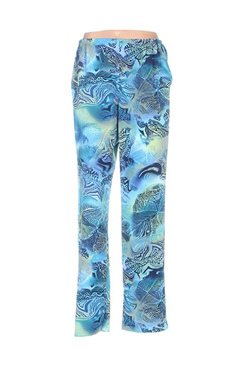 lisa chesnay pantalons femme de couleur bleu