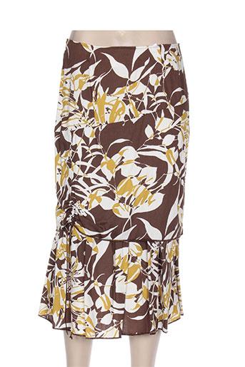 manadour jupes femme de couleur marron