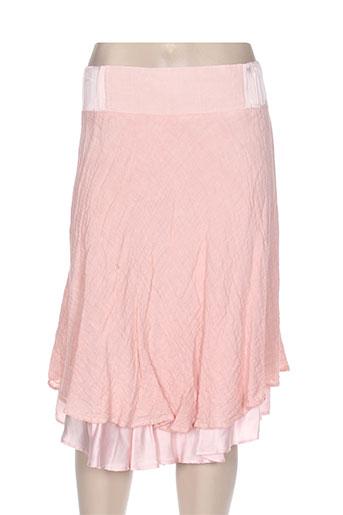 la stampa jupes femme de couleur rose