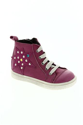 acebos chaussures fille de couleur rose