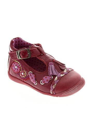 catimini chaussures fille de couleur rouge