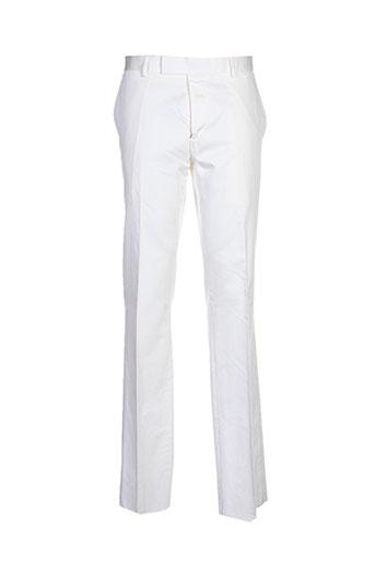 paul smith pantalons homme de couleur blanc