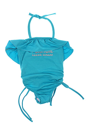 bulle de bb maillots de bain fille de couleur bleu