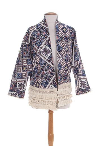 Veste casual bleu AMY LOU pour femme