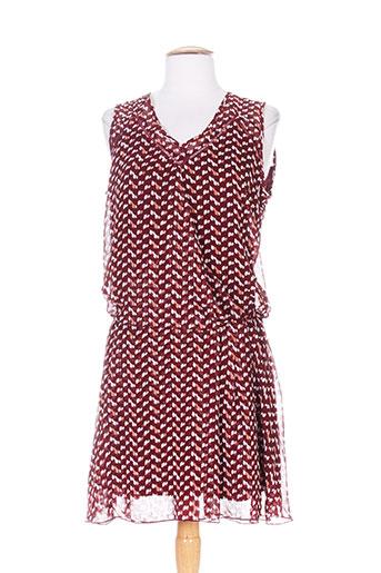 moka's robes femme de couleur rouge