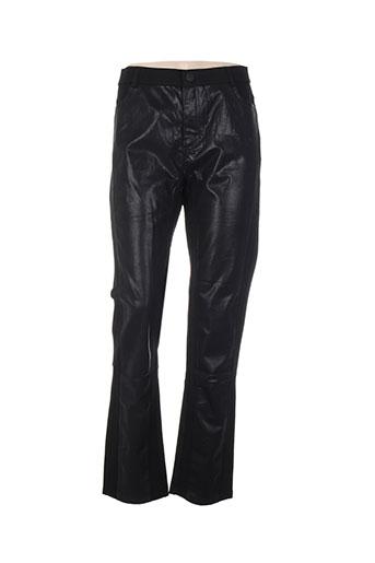 louna pantalons femme de couleur noir