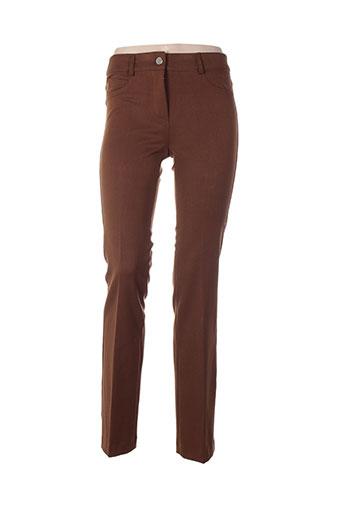 absolu pantalons femme de couleur marron