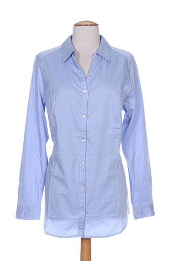 gina laura chemises femme de couleur bleu