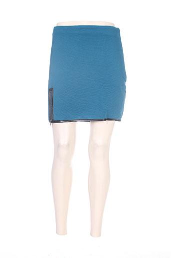 Jupe courte bleu MISS CAPTAIN pour femme