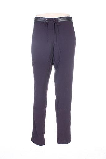 Pantalon chic violet MISS CAPTAIN pour femme