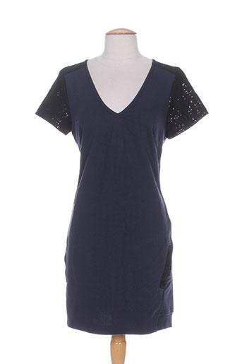 Robe courte bleu MISS CAPTAIN pour femme