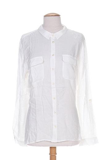 jacqueline riu chemises femme de couleur blanc