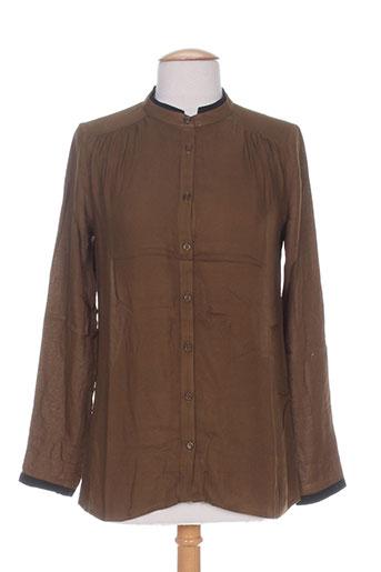 jacqueline riu chemises femme de couleur marron