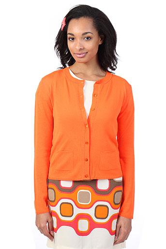 la fee maraboutee gilets femme de couleur orange