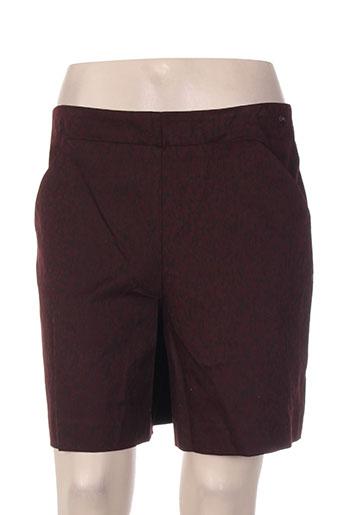 cop copine shorts / bermudas femme de couleur rouge