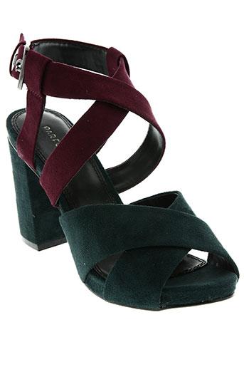 parfait chaussures femme de couleur vert