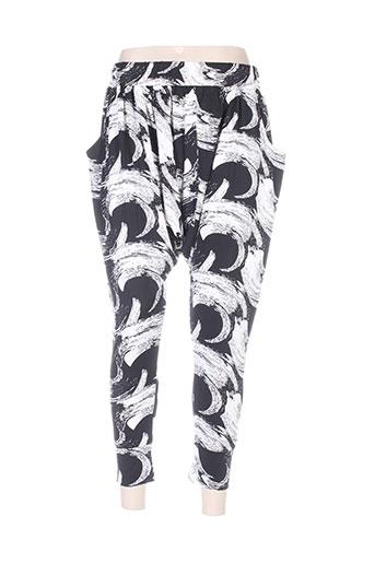 anne turtaut pantalons femme de couleur noir
