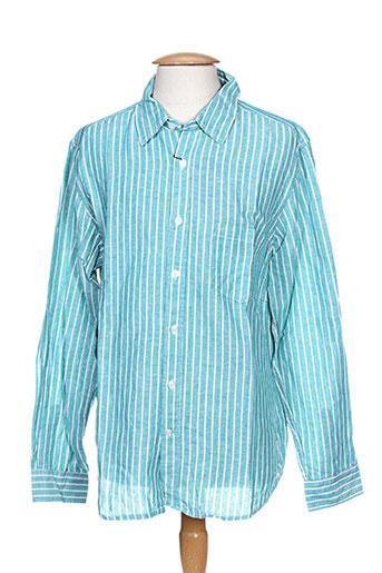 esprit de la mer chemises homme de couleur bleu