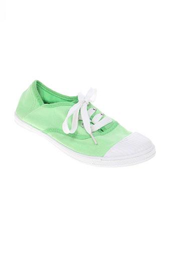 transat chaussures fille de couleur vert