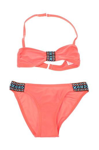 mondaca maillots de bain fille de couleur orange