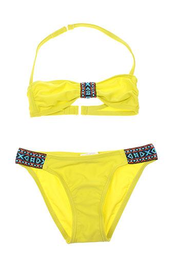mondaca maillots de bain fille de couleur jaune