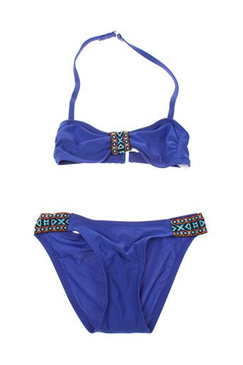 mondaca maillots de bain fille de couleur bleu