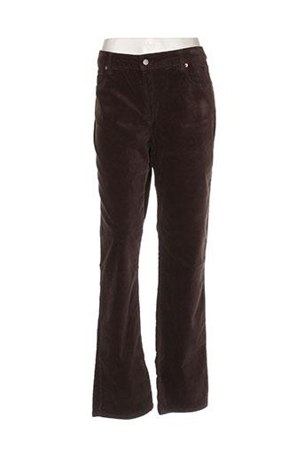 gallice pantalons femme de couleur marron