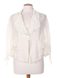 Veste casual blanc OLIVER JUNG pour femme