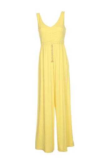 pois combinaisons femme de couleur jaune